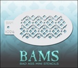 BAM- Bad Ass Mini Face painting Stencils 1024