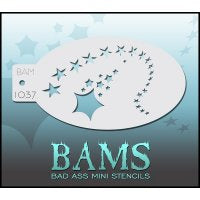 BAM- Bad Ass Mini Face painting Stencils 1037-Shooting Stars