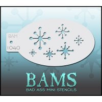 BAM- Bad Ass Mini Face painting Stencils 1040-Stars