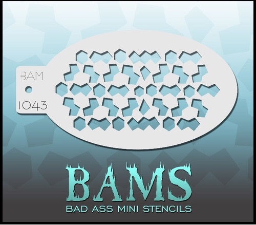BAM- Bad Ass Mini Face painting Stencils 1043