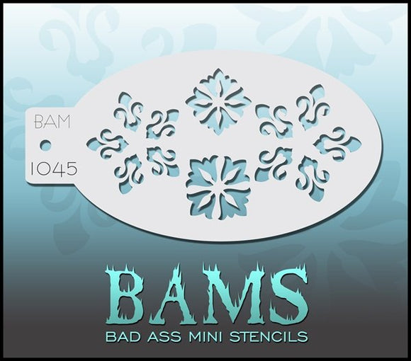 BAM- Bad Ass Mini Face painting Stencils 1045