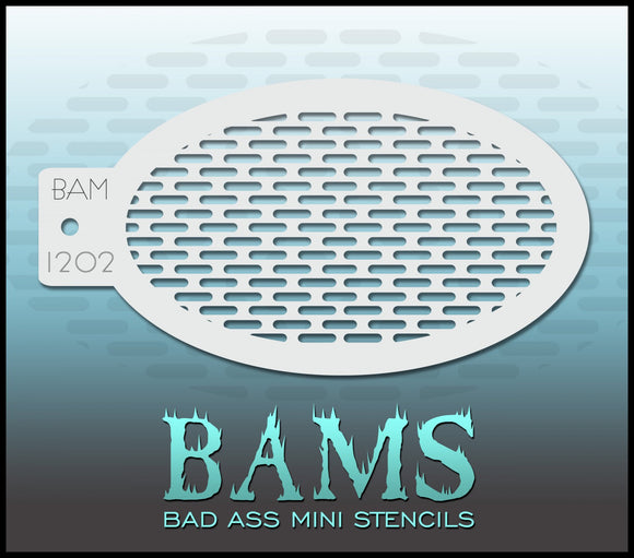 BAM- Bad Ass Mini Face painting Stencils 1202