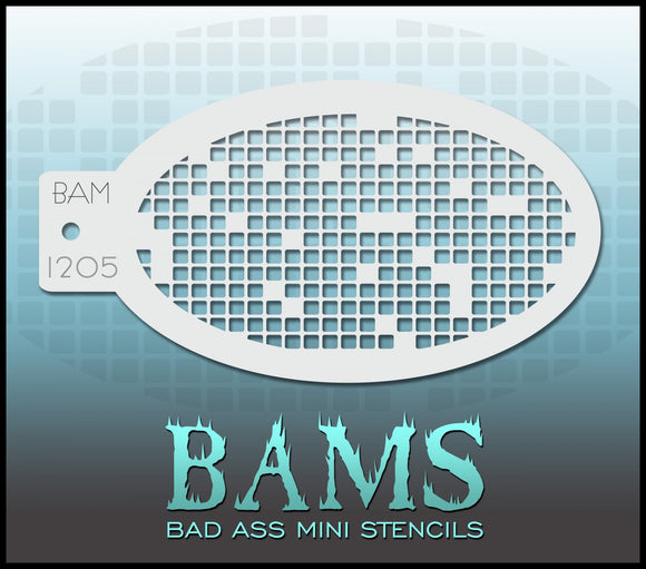 BAM- Bad Ass Mini Face painting Stencils 1205