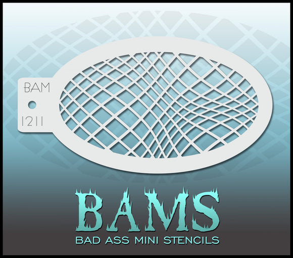 BAM- Bad Ass Mini Face painting Stencils 1211