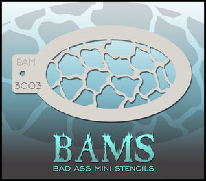 BAM- Bad Ass Mini Face painting Stencils 3003