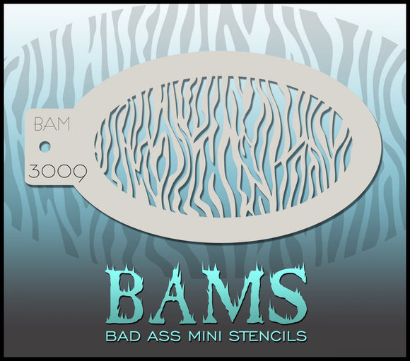 BAM- Bad Ass Mini Face painting Stencils 3009