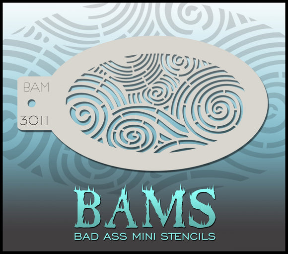 BAM- Bad Ass Mini Face painting Stencils 3011