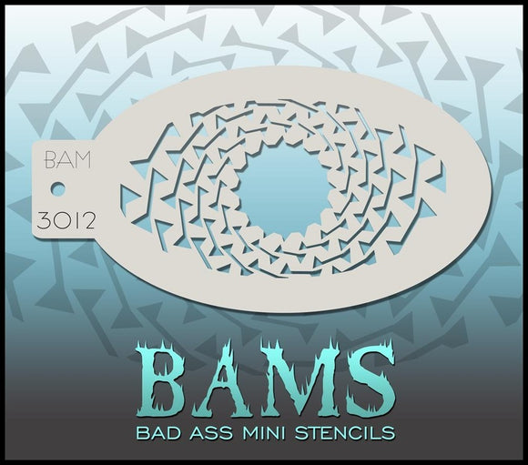 BAM- Bad Ass Mini Face painting Stencils 3012