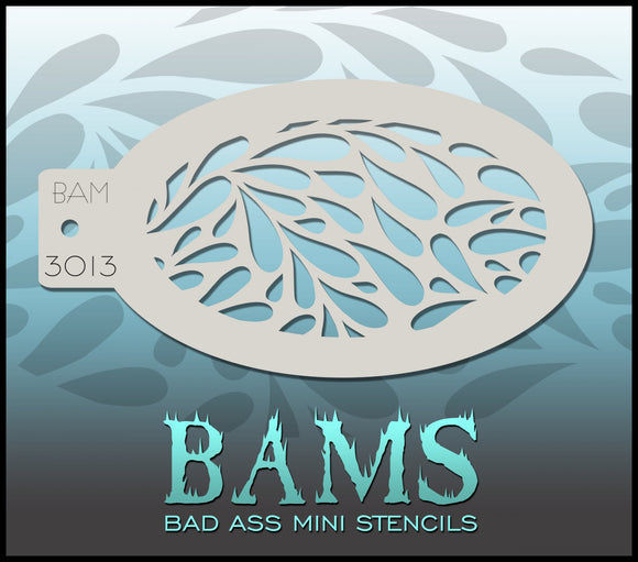 BAM- Bad Ass Mini Face painting Stencils- teardrops, droplets, water 3013