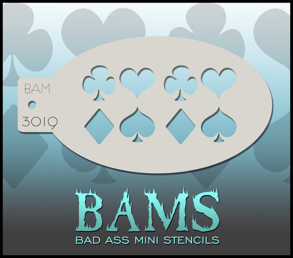 BAM- Bad Ass Mini Face painting Stencils 3019