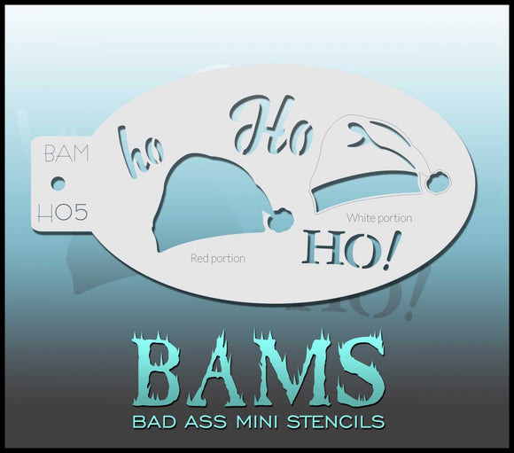 BAM- Bad Ass Mini Face painting Stencils H05 santa