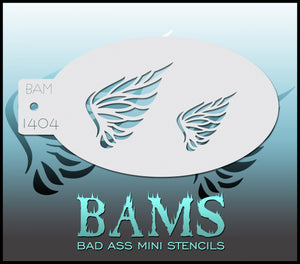 BAM- Bad Ass Mini Face painting Stencils 1404 - wings, angel