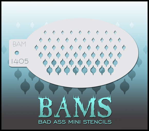BAM- Bad Ass Mini Face painting Stencils 1405