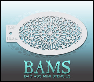 BAM- Bad Ass Mini Face painting Stencils 1424- mandala