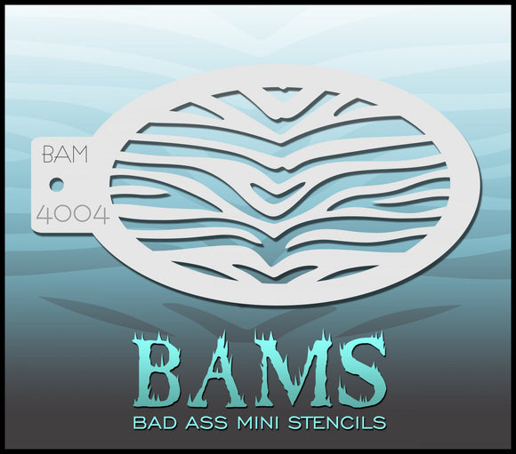 BAM- Bad Ass Mini Face painting Stencils 4004 zebra