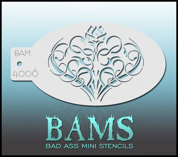 BAM- Bad Ass Mini Face painting Stencils 4006