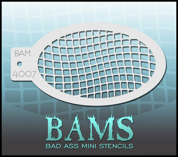 BAM- Bad Ass Mini Face painting Stencils 4007