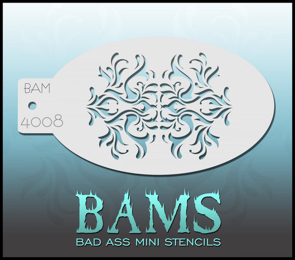 BAM- Bad Ass Mini Face painting Stencils 4008