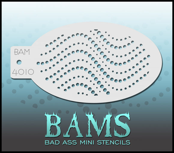 BAM- Bad Ass Mini Face painting Stencils 4010
