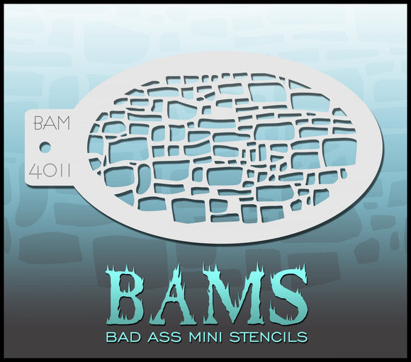 BAM- Bad Ass Mini Face painting Stencils 4011