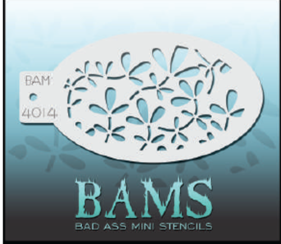 Copy of BAM- Bad Ass Mini Face painting Stencils 4014