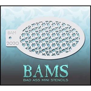 BAM- Bad Ass Mini Face Painting Stencil- 2020