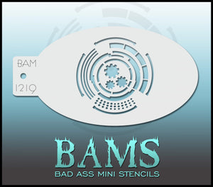 BAM- Bad Ass Mini Face Painting Stencil -1219