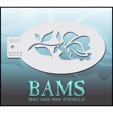 BAM- Bad Ass Mini Face Painting Stencil- 2022 Rose