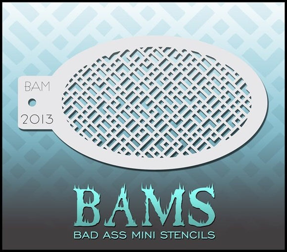 BAM- Bad Ass Mini Face Painting Stencil- 2013