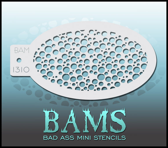 BAM- Bad Ass Mini Face Painting Stencil- 1310