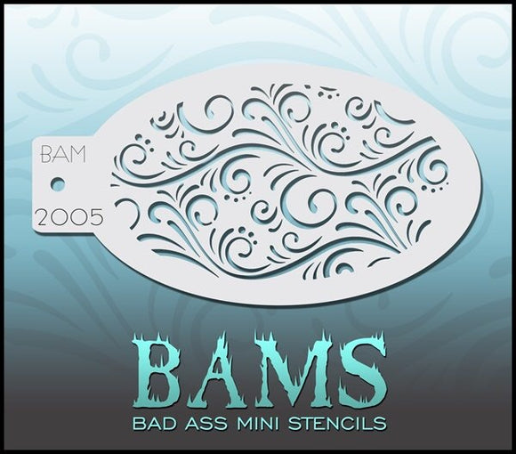 BAM- Bad Ass Mini Face Painting Stencil- 2005