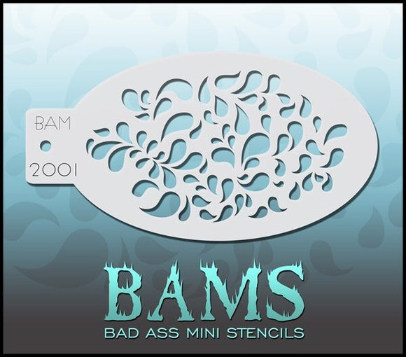 BAM- Bad Ass Mini Face Painting Stencil- 2001