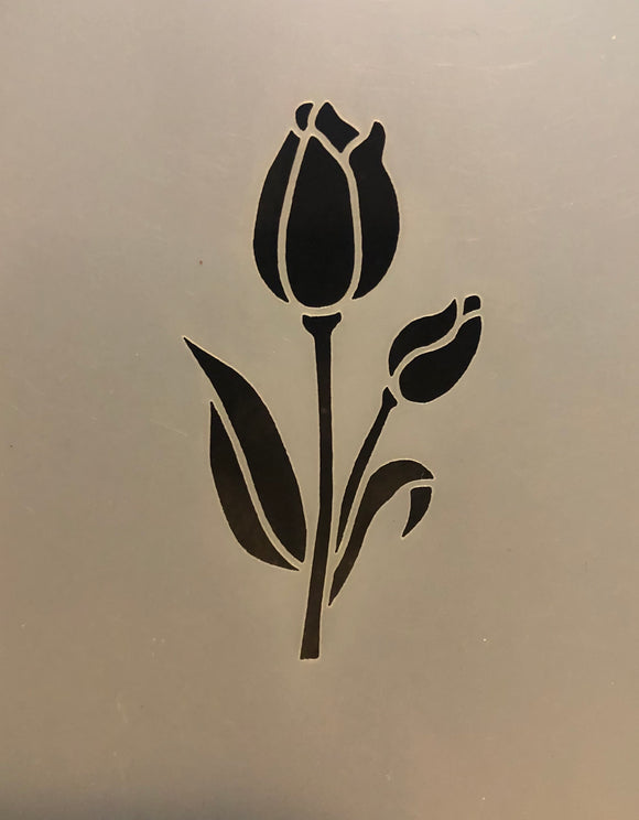 Face Painting Stencil- Tulip