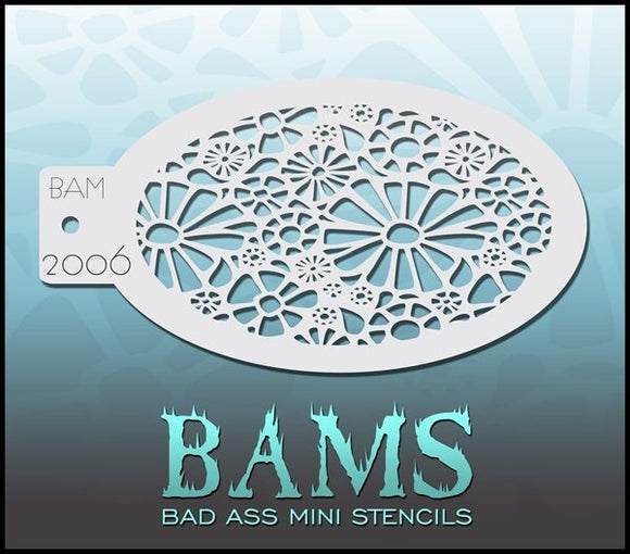 BAM- Bad Ass Mini Face Painting Stencil- 2006