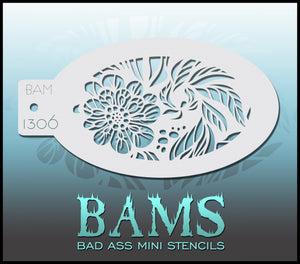 BAM- Bad Ass Mini Face Painting Stencil 1306