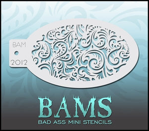 BAM- Bad Ass Mini Face Painting Stencil- 2012