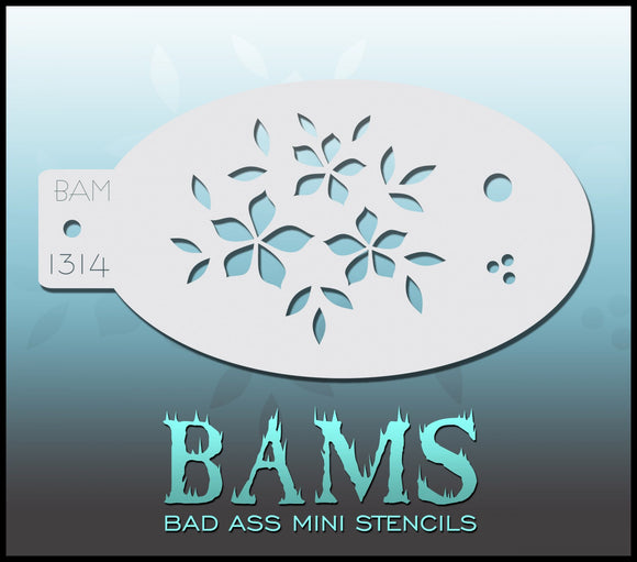 BAM- Bad Ass Mini Face Painting Stencil- 1314