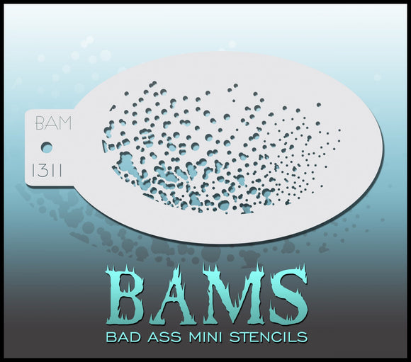 BAM- Bad Ass Mini Face Painting Stencil- 1311