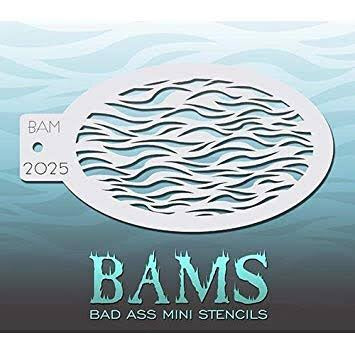 BAM- Bad Ass Mini Face Painting Stencil- 2025
