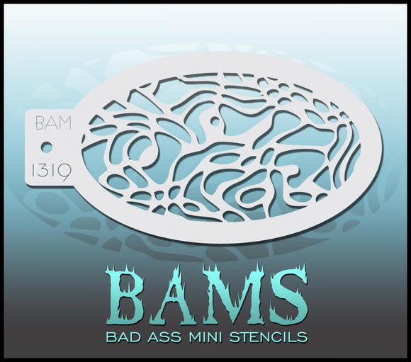BAM- Bad Ass Mini Face Painting Stencil- 1319
