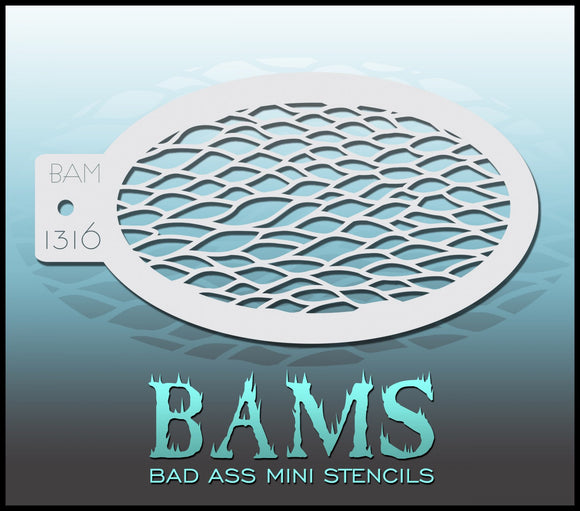BAM- Bad Ass Mini Face Painting Stencil- 1316