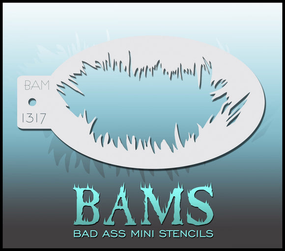 BAM- Bad Ass Mini Face Painting Stencil- 1317
