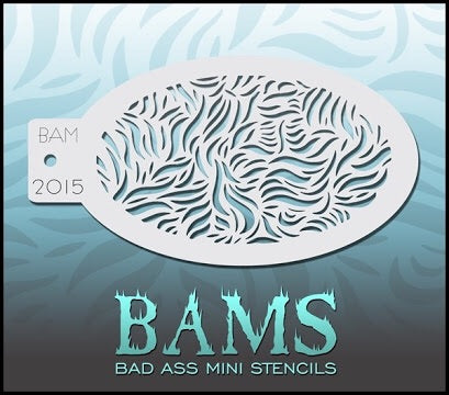 BAM- Bad Ass Mini Face Painting Stencil- 2015