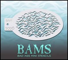 BAM- Bad Ass Mini Face Painting Stencil- 2026