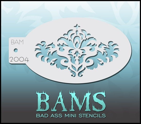 BAM- Bad Ass Mini Face Painting Stencil- 2004