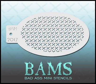 BAM- Bad Ass Mini Face Painting Stencil- 2017