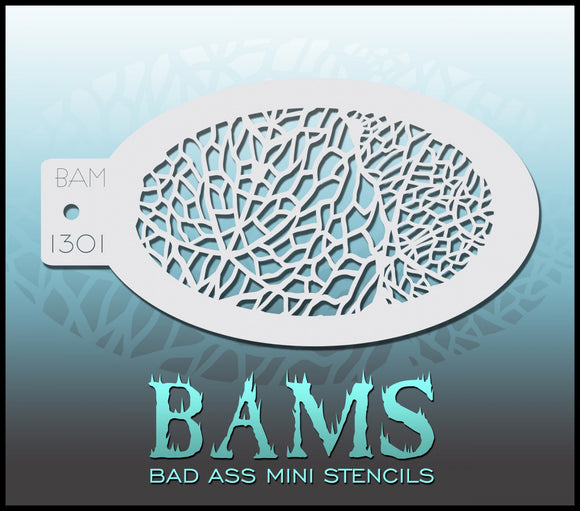 BAM-Bad Ass Mini Face painting stencils- 1301