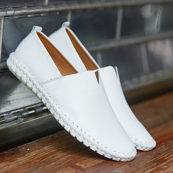 mens white slip on dress shoes discount