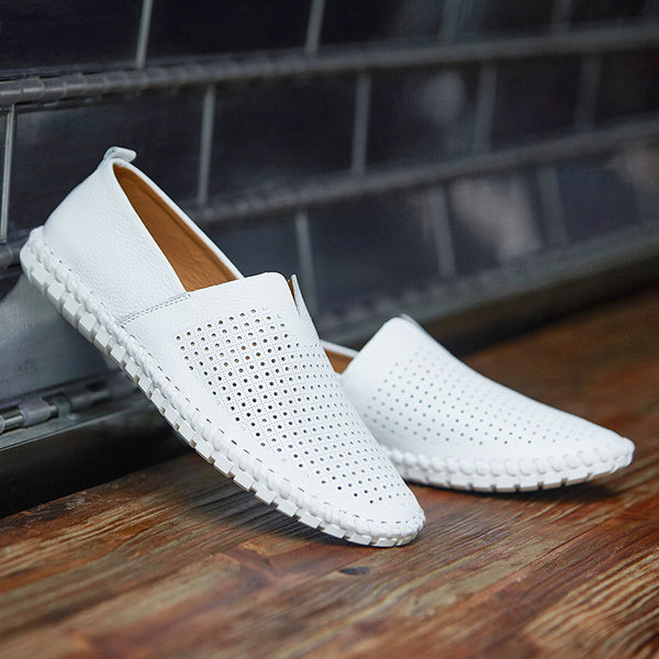Shoes Fashion Handmade Leather Mens Slip On Loafers(Buy 2, second one 10% off)