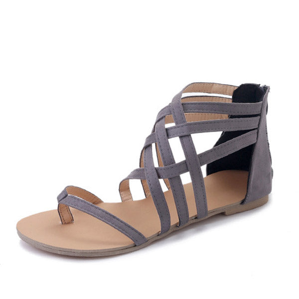 Sandals - Ladies Ankle Strap Flats Sandals
